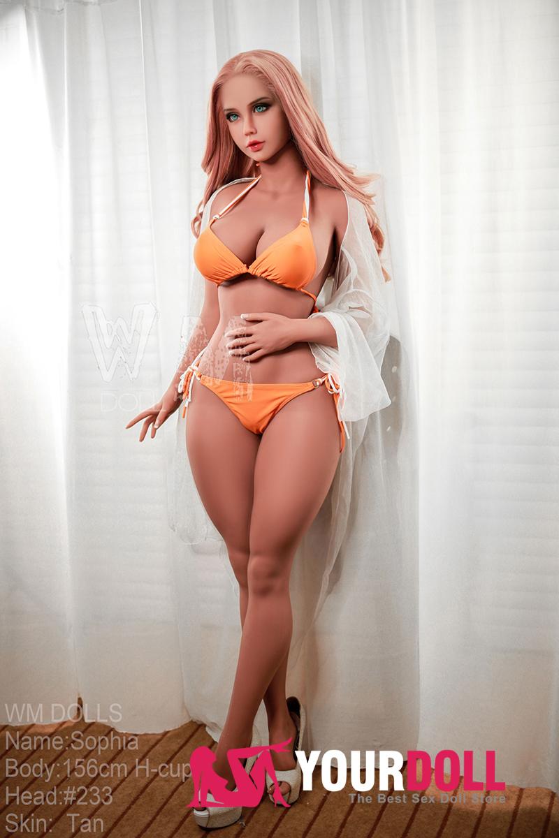 WM Dolls  Sophia  156cm  Hカップ   #233 ブラウン肌 誘惑的な美人ドール