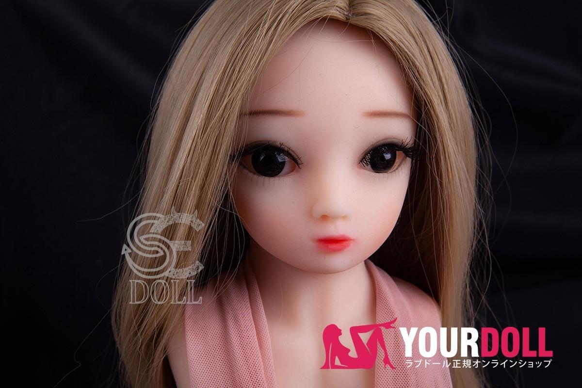 SEDOLL ミニラブドール 34cm ヘッドとウィッグ付き 一体式型 ノーマル肌色