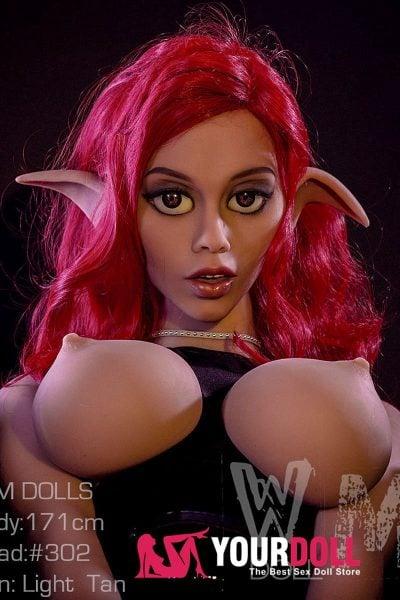 WM Dolls  Daray  171cm  #302  ブラウン肌 エルフ仕様のセックス ドール