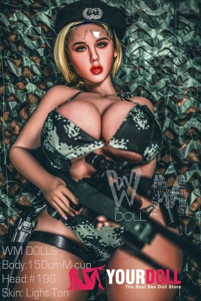WM Dolls  Elise  150cm  Mカップ  #198  小麦肌  制服プレイ等身大 ラブドール