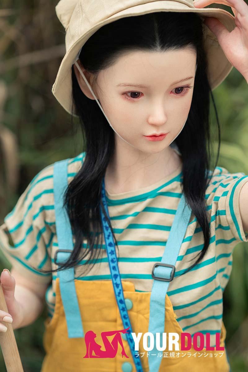 WaxDoll 玲菜 G36 130cm Aカップ 埋め込み型の髪毛ノーマル肌 フルシリコン製  ラブ人形