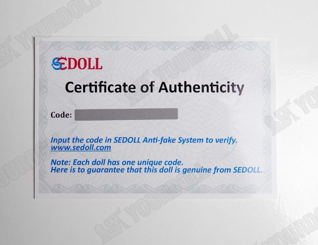 yourdoll--sedoll-certificate